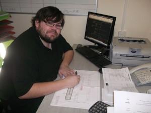 David Gathern at work