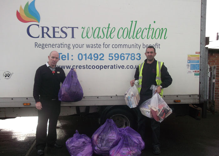 Rod Williams, Operations Manager and Carlo Massei, Textile Sorting Co-ordinator at Crest