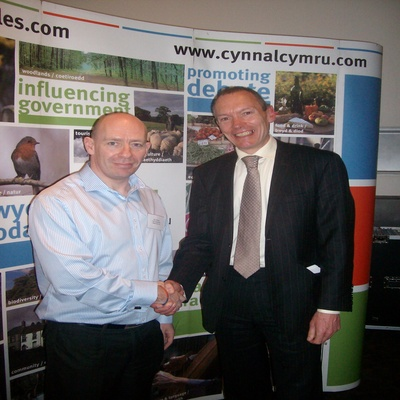 Rod Williams, Crest's Operations Manager with Minister for the Environment John Griffiths
