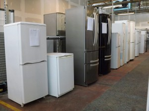 Fridges in our electrical re-use hub