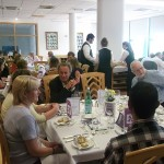 Guests enjoyed a meal, cooked with FareShare produce.