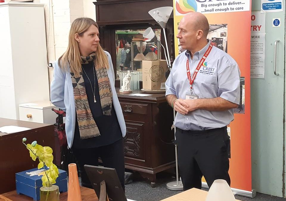 Hannah Blythyn AM Visits Crest Co-operative